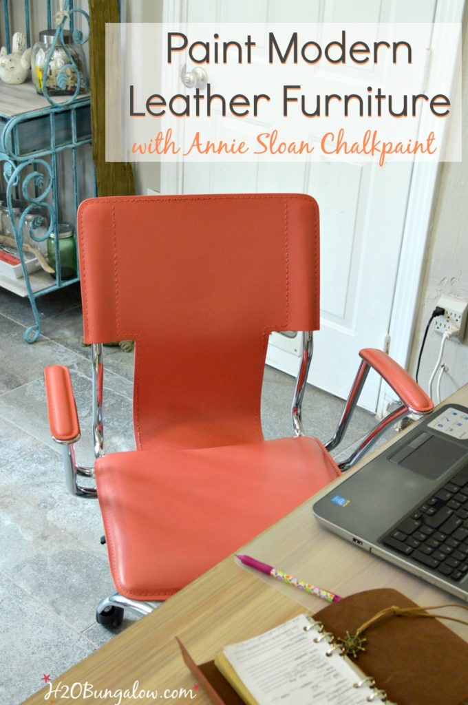Painted modern leather chair for How to paint leather furniture