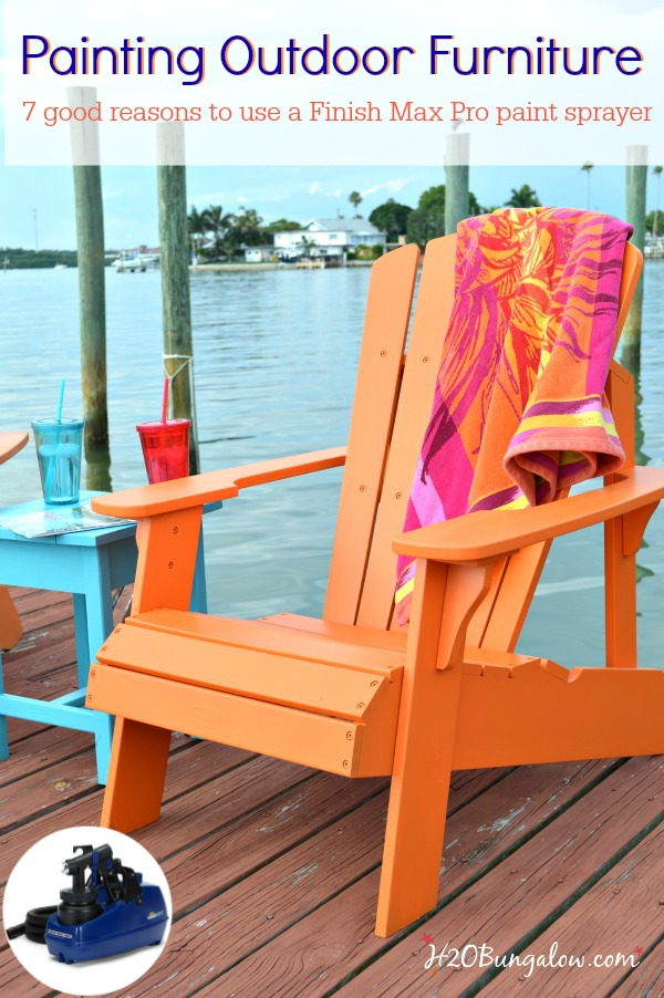 Painting Outdoor Furniture Is Easy And Quick When You Use A Paint Sprayer.  I Share