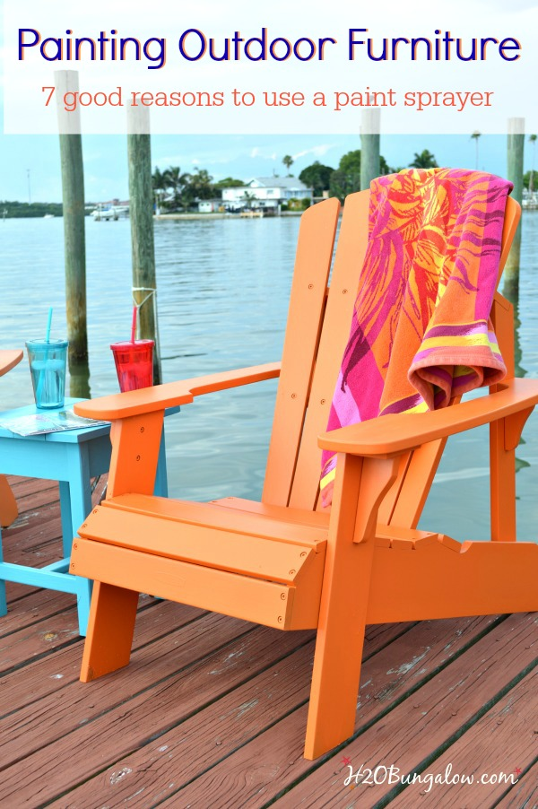 Paint Outdoor Furniture With A Paint Sprayer
