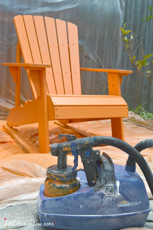The Benefits Of Using A Paint Sprayer To Paint Outdoor Furniture By  H2OBungalow