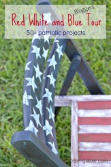 Red white and blue DIY patriotic bloggers tour, 50+ projects you can do today H2OBungalow #patriotic