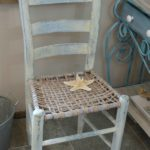 Rustic Coastal Chair Makeover and Themed Furniture Day