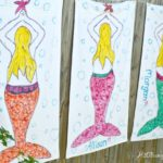 Tie dye mermaid beach towels and tutorial by H2OBungalow
