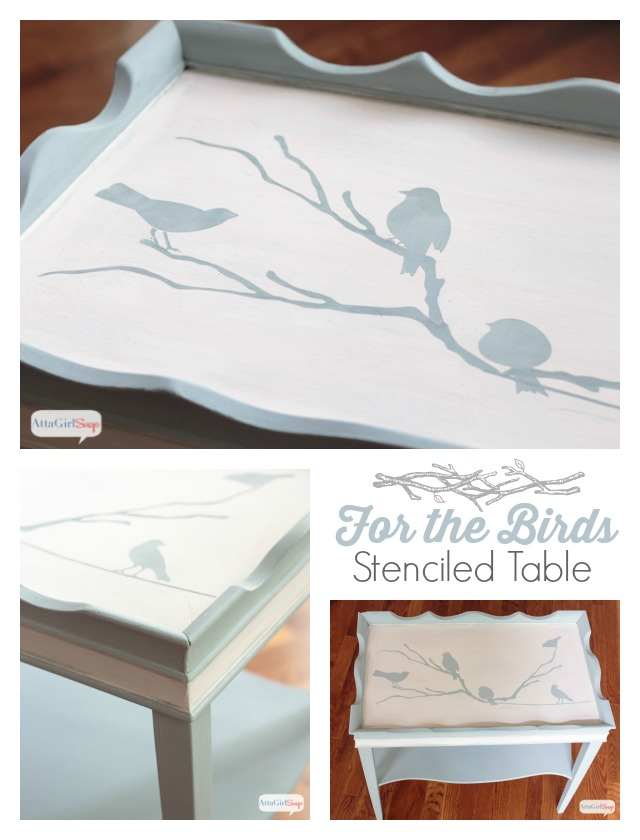 Stenciled Bird Table