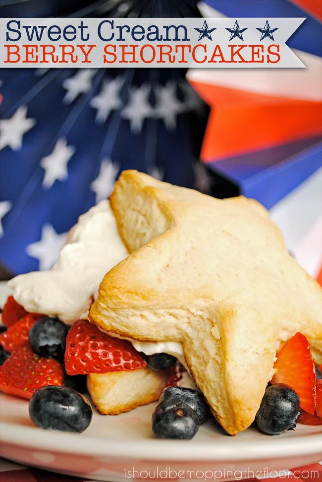 Sweet Cream Berry Shortcakes DIY Sunday Showcase feauture