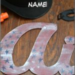DIY Wood Cut Out Name & Traveling Birthday Present