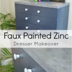Faux Painted Zinc Dresser