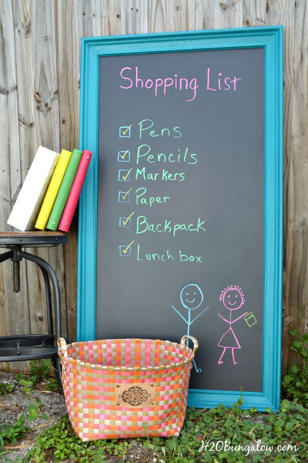Get organized and be ready with these creative ideas for back to school by H2OBungalow