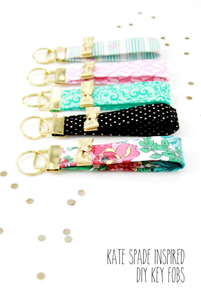 DIY Sunday Showcase weekly feature Kate Spade Inspired Key Fobs from Flamigo Toes.  Click over to see the rest of this weeks fabulous features!   www.H2OBungalow.com