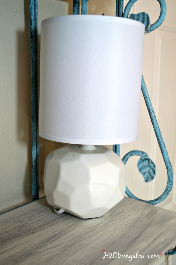 Plain lamp before stenciling H2OBungalow