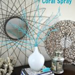 ZGallerie inspired coral spray in white milkglass DIY coastal home decor by H2OBungalow #coastaldecor