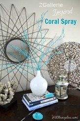 ZGallerie inspired coral spray in white milkglass DIY coastal home decor by H2OBungalow #coastaldecor