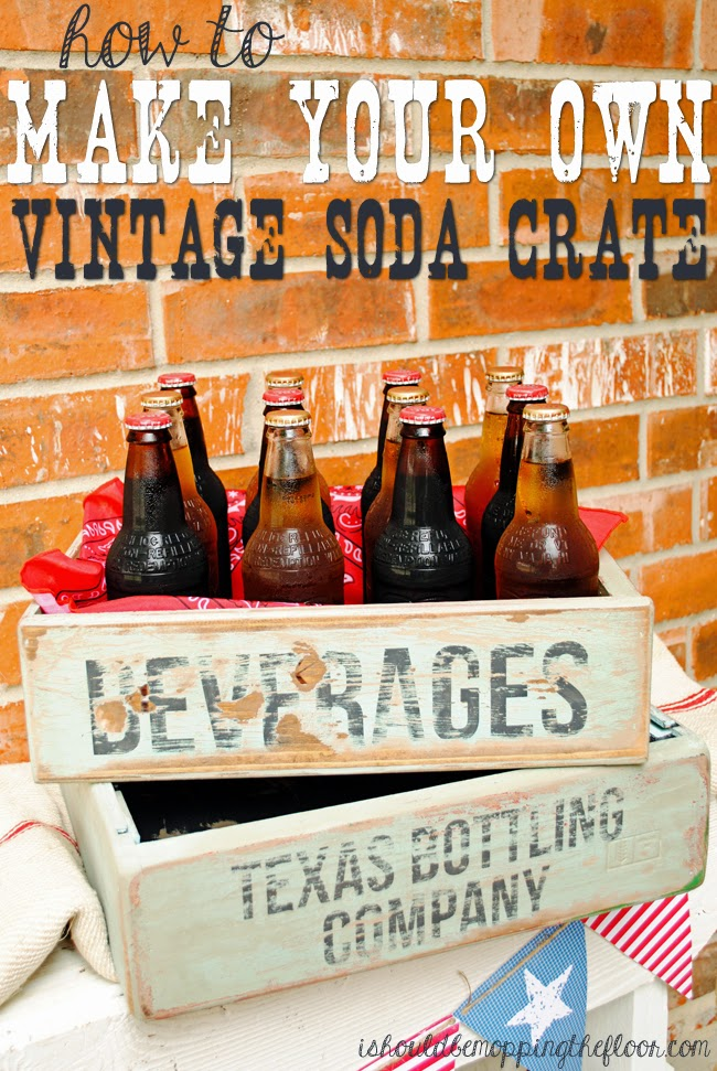 DIY Vintage Soda Crate DIY Sunday Showcase