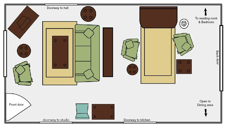 Layout Of Narrow Living Room