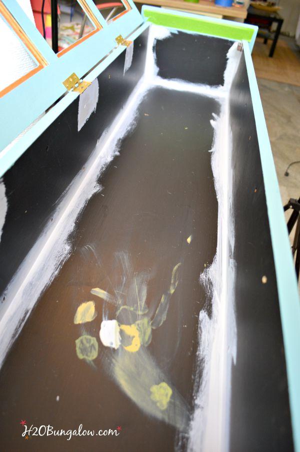 bird bath storage cabinet makeover before H2OBungalow