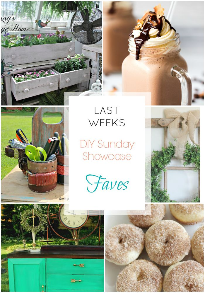 DIY Sunay Showcase features for this week are nothing short of fantatsic!  See these incredibile projects as well as the entire line-up of  over 300 entries in this weeks showcase.  www.H2OBungalow.com #DIYSundayshowcase