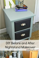 DIY nightstand project before and after and an Advil Sponsored Sweepstakes with a chance to win $15,000 cash to help you with your latest DIY project!