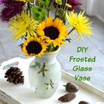 How Much Do You Love Sunflowers? DIY Frosted Glass Coastal Vase