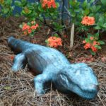 DIY Faux Bronze Garden Statue