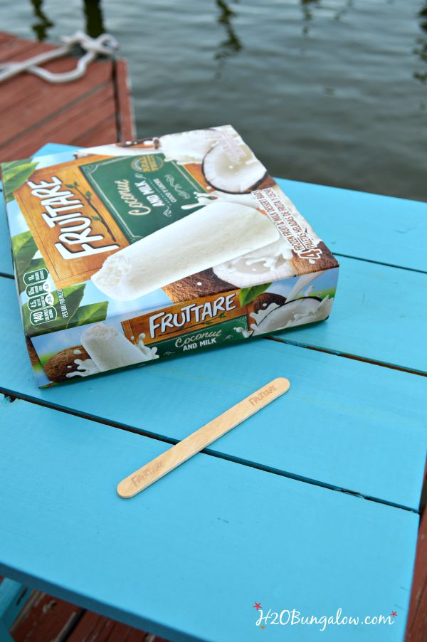 Enjoying Fruttare® frozen fruit bars on the dock at sunset to watch the dolphins.  I'm OK that they ate my entire box in one sitting because they are made with real fruit and by a company who practices sustainable farming.