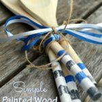 Barbecues & DIY Painted Wood Spoons