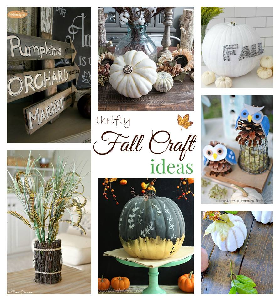 "Make simple and festive fall crafts this year. See 32 fall projects for mega awesome fall inspiration in wreaths, mantels, tablescapes and fall crafts in the Fall Ideas Tour. www.H2OBungalow.com #Fall ""Falldecor #FallIdeasTour"