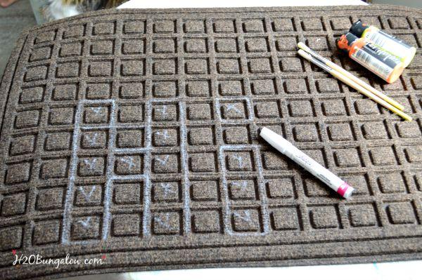 Fall DIY doormat H2OBungalow.com