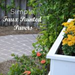 DIY Faux Pavers For Concrete