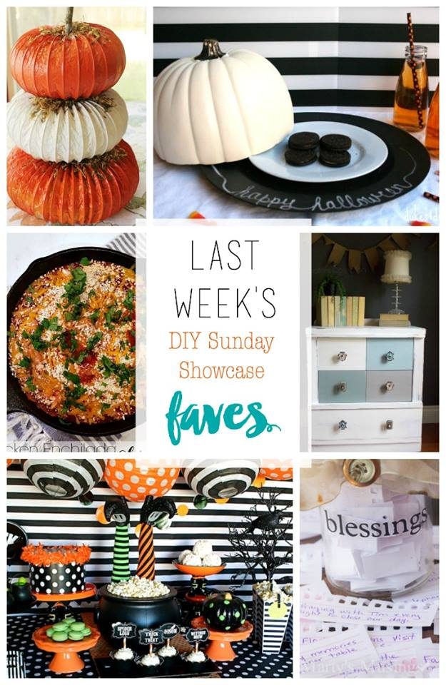 DIY Sunday Showcase 10.18 edition featurs of the week, stop by to see these and other fabulous projects, recipes and DIYS H2OBungalow