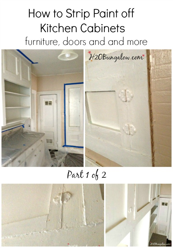 How To Strip Layers Of Old Paint Of Kitchen Cabinets Furniture And More Tutorial