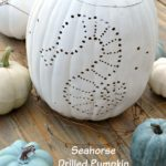 DIY Coastal Drilled Pumpkin