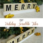 Large DIY Holiday Scrabble Tiles