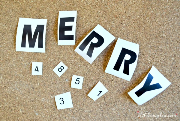 DIY Holiday Scrabble Tiles for the Power Tool Challenge Team Holiday edition Come see this and several more fun holoiday gift ideas that you can make with power tools #PowerToolChallengeTeam #giftideas #powertools www.H2OBungalow.com