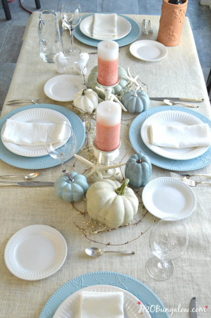 overview of coastal holiday Tablescapes