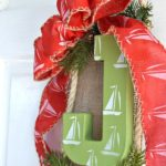 Nautical Sailboat Christmas Wreath