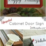 DIY Cabinet Door Sign