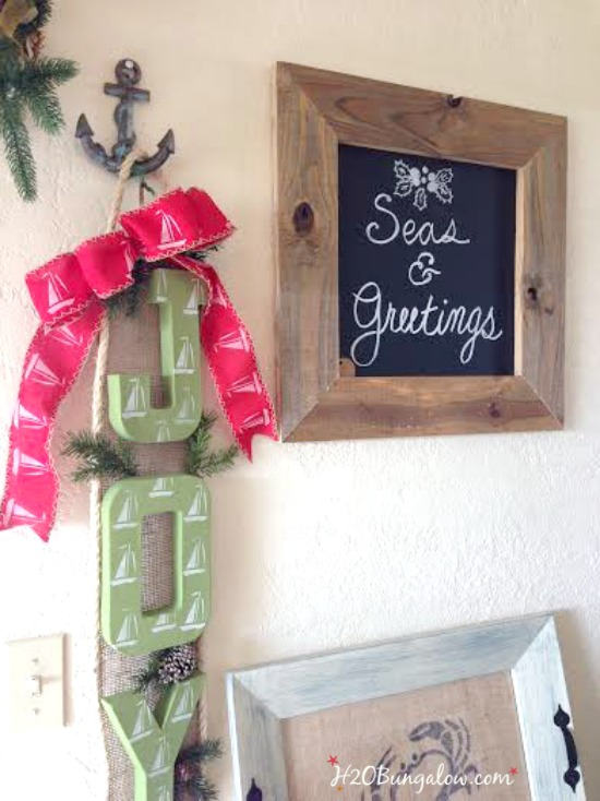 Simple to make easy rustic DIY chalkboard is always a fun gift to give or receive or make one for yourself! www.H2OBungalow.com #simplegiftidea