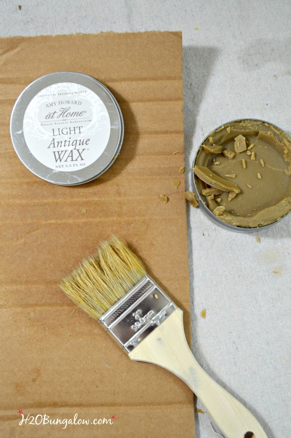 Create an authentic aged patina on new or old wood like my desk makeover with Amy Howard Paint . See my tutorial with easy to follow steps to make your own rich, aged patina that looks centuries old. H2OBungalow.com