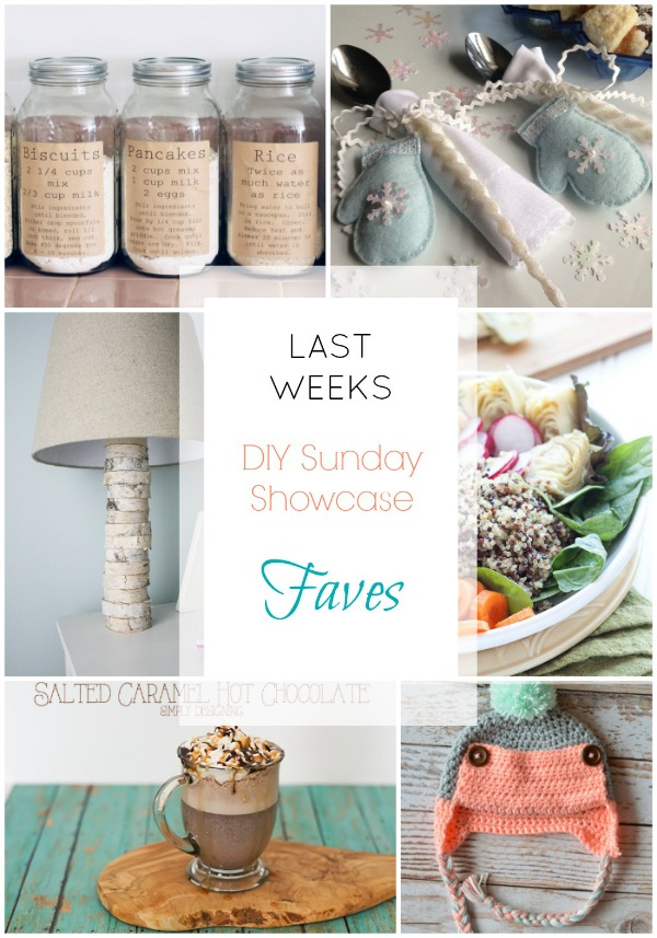 DIY Sunday Showcase edition features. Stop by to visit these and more great DIY projects, recipes and plenty of other outstanding creative entries! H2OBungalow.com