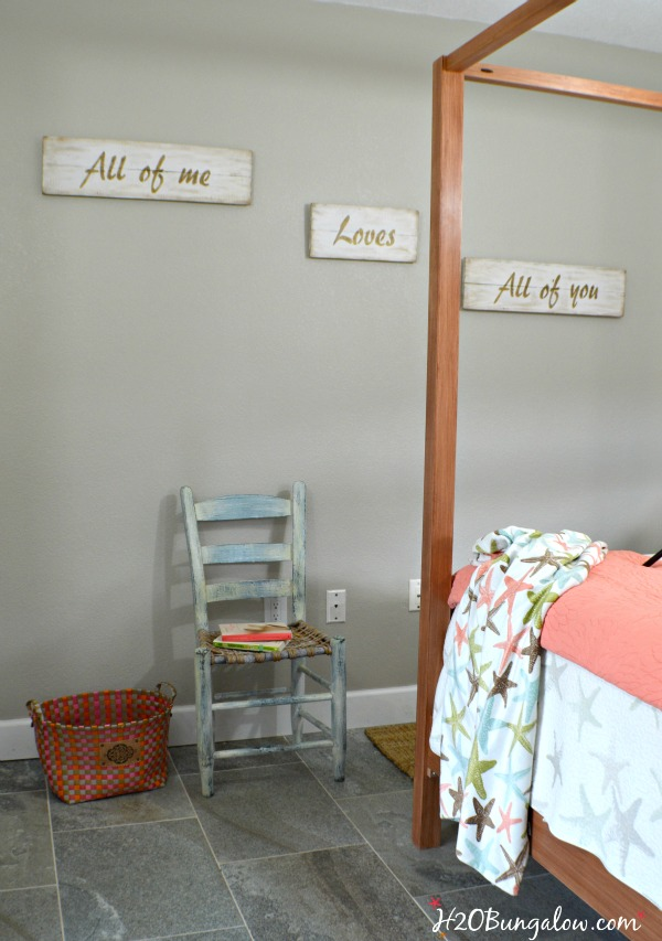 DIY Tutorial For A Romantic Word Phrase Wall Plaque Using All Of Me Loves  All Of
