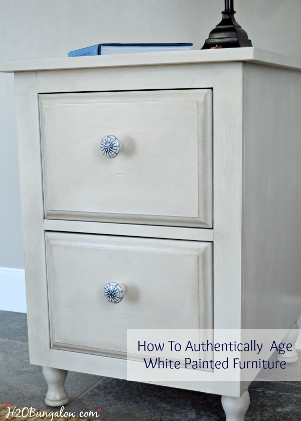 White Painted Furniture how to authentically age white painted furniture nightstand