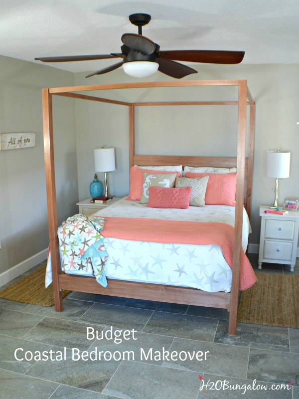 Coastal Bedroom Makeover ~ The Reveal - H20Bungalow