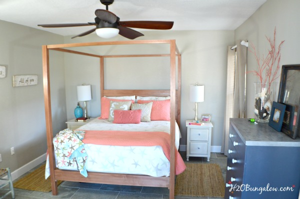 Coastal Bedroom Makeover The Reveal