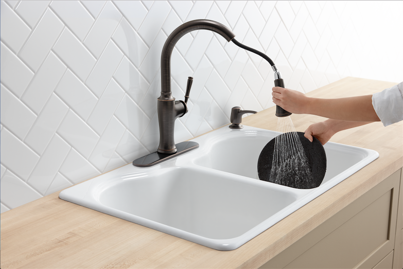 5 tips for selecting the best kitchen faucet for your needs has good advice with questions to ask yourself before you make the decision to replace your old kitchen faucet H2OBungalow