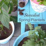Easy Stenciled Flower Pots