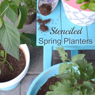 Try these colorful easy stenciled flower pots as a great way to spruce up a spring container garden or brighten a Patio or Porch. H2OBungalow.com