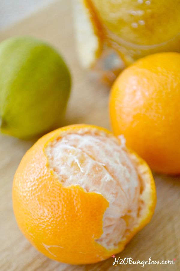 DIY citrus peel cleaner recipe for big and light cleaning jobs