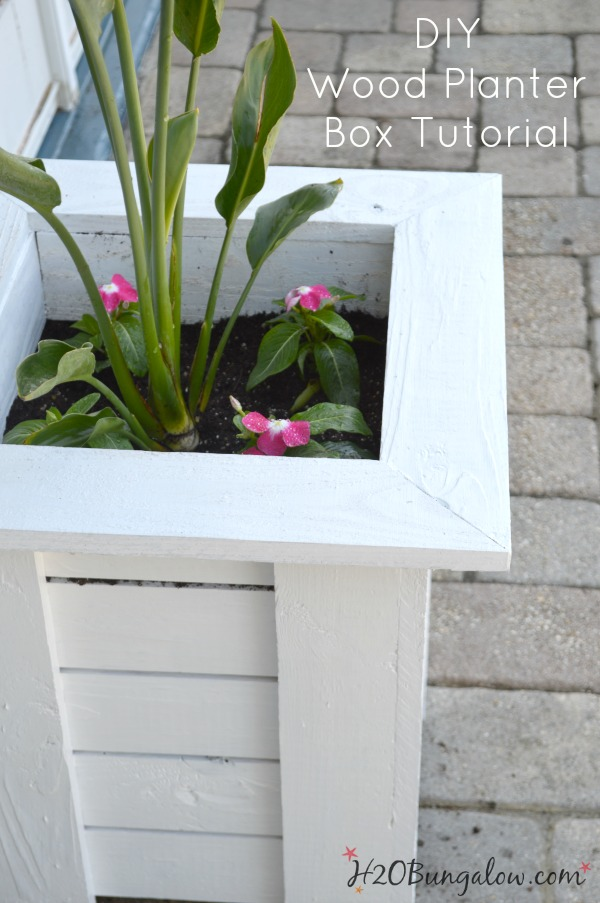 Key West Diy Wood Planter Box H2obungalow