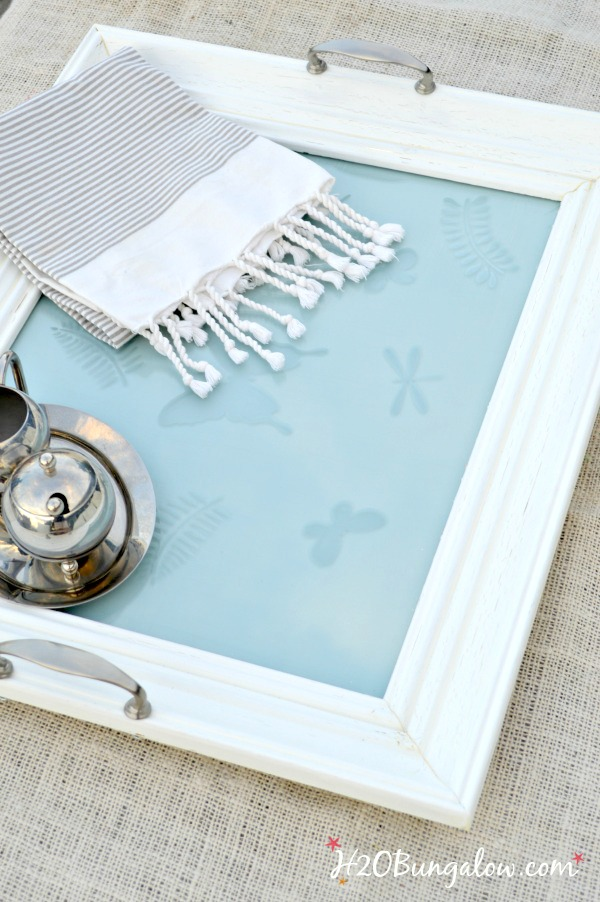 Picture frame made into a serving tray