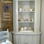 French farmhouse corner cabinet makeover with Amy Howard New Toscana Paint Finish Tutorial by H2OBungalow
